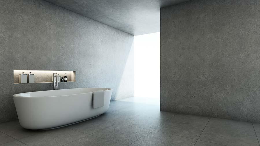Badkamer Beton Interieur : Doldersum installatietechniek brengt beton ciré aan in lemelerveld
